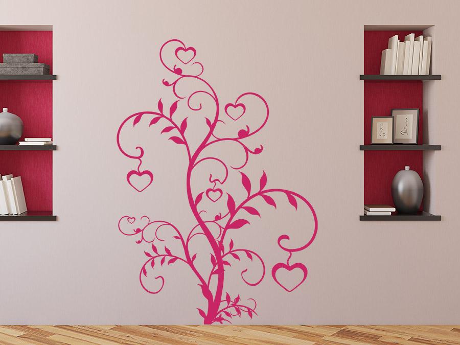wandtattoo ranke mit herzen von. Black Bedroom Furniture Sets. Home Design Ideas