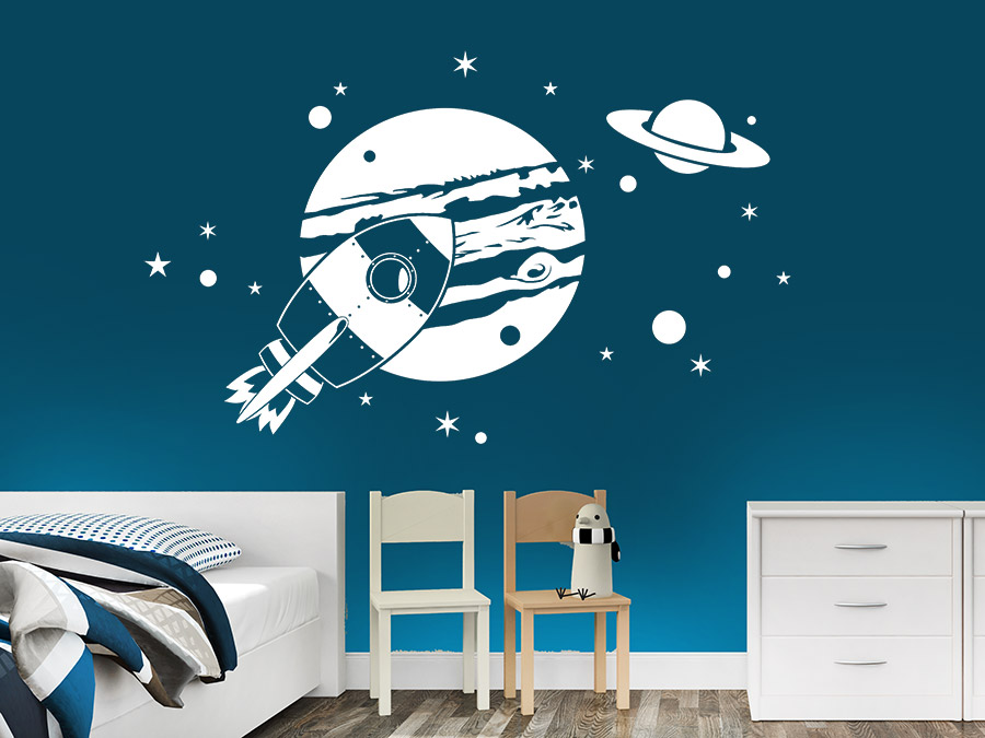 wandtattoo planeten im weltraum von. Black Bedroom Furniture Sets. Home Design Ideas