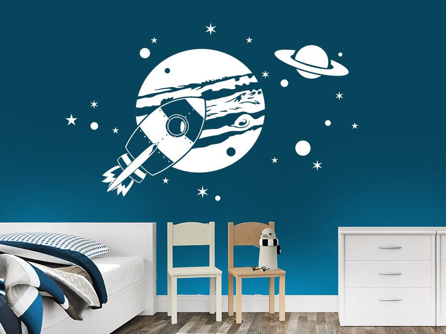 Wandtattoo kinderzimmer planeten reuniecollegenoetsele for Dekor weltraum