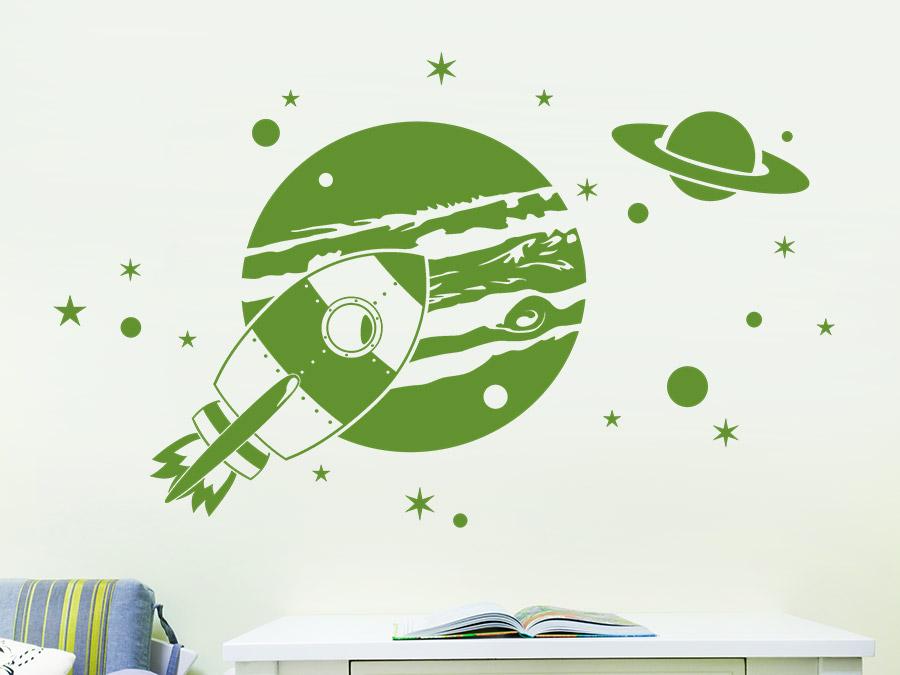 Wandtattoo kinderzimmer weltall wandsticker kinderzimmer for Weltraum deko kinderzimmer