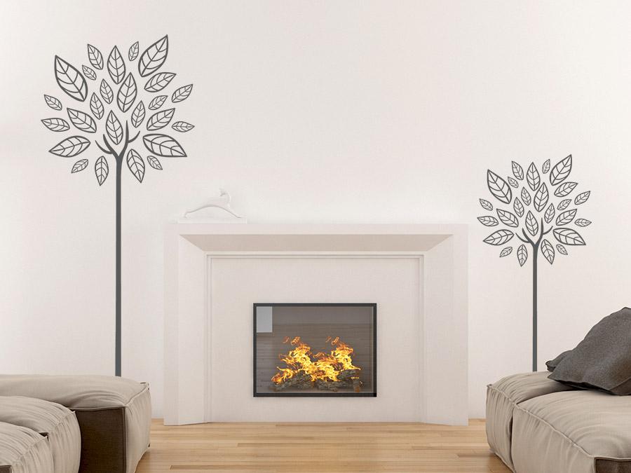 Wandtattoo moderne b ume von for Farbige wandgestaltung wohnzimmer