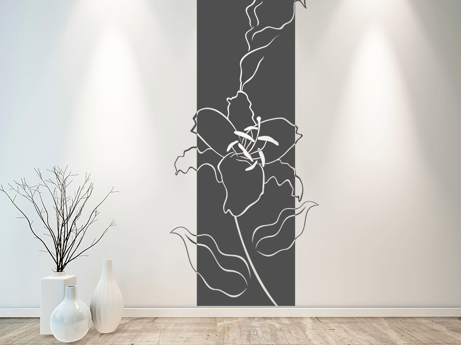 Wandtattoo Banner Lilien von Wandtattoo.de
