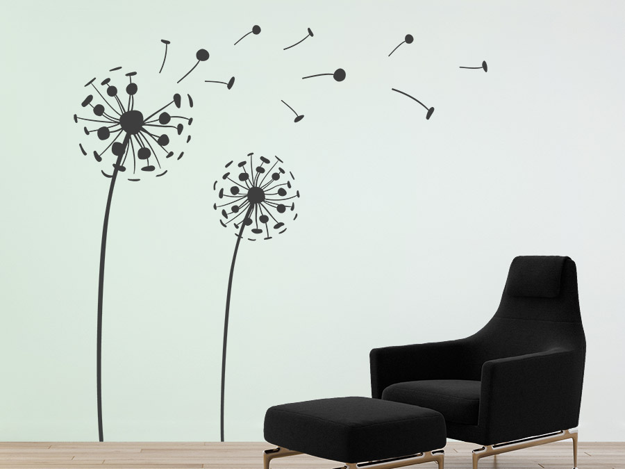 wandtattoo 3d pusteblumen wandgestaltung wandtattoo de. Black Bedroom Furniture Sets. Home Design Ideas