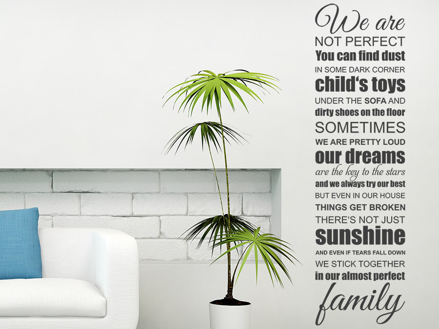 Wandtattoo we are family familien spruchband wandtattoo de - Wandtattoo family ...