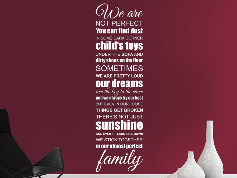 wandtattoo we are family familien spruchband wandtattoo de. Black Bedroom Furniture Sets. Home Design Ideas