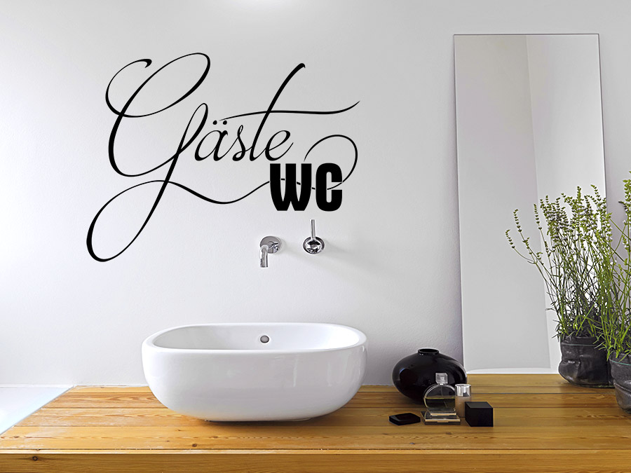 wandtattoo g ste wc t rschild schriftzug wandtattoo de. Black Bedroom Furniture Sets. Home Design Ideas
