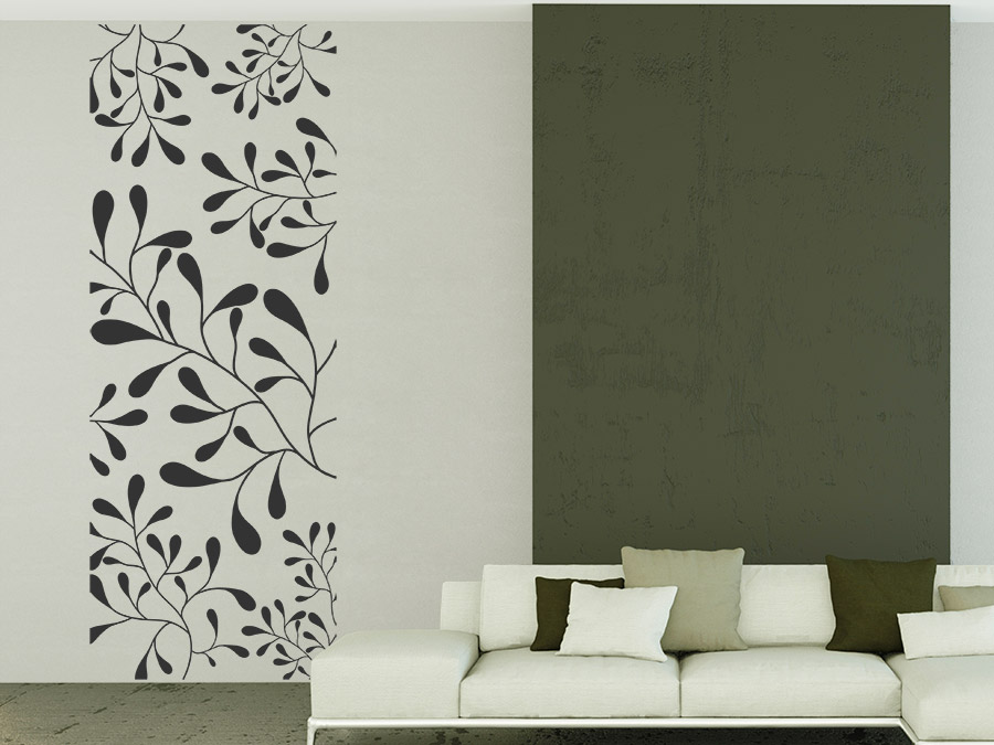 wandbanner florale ornamente wandtattoo raumhoch wandtattoo de. Black Bedroom Furniture Sets. Home Design Ideas