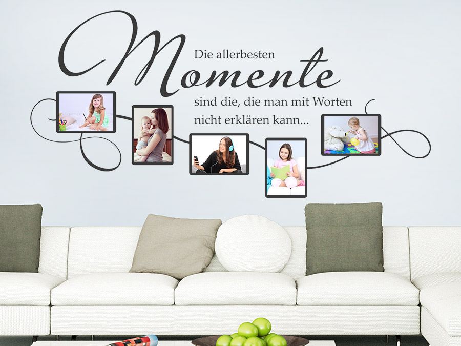 wandtattoo fotorahmen die allerbesten momente wandtattoo de. Black Bedroom Furniture Sets. Home Design Ideas