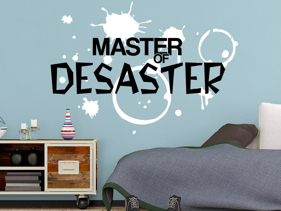 wandtattoo master of desaster mit splashes wandtattoo de. Black Bedroom Furniture Sets. Home Design Ideas
