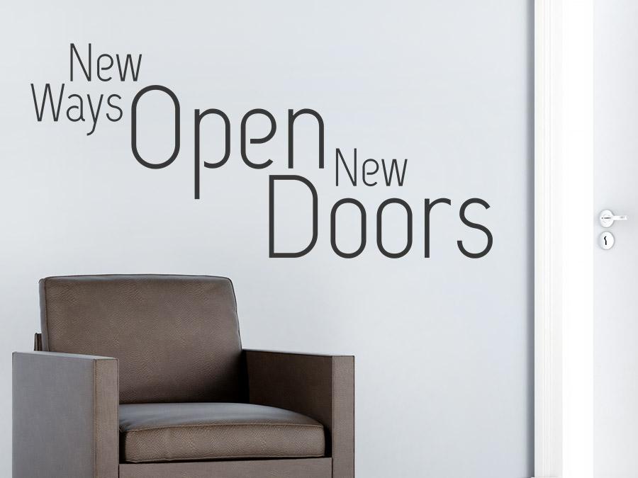 wandtattoo new ways open new doors wandtattoo de. Black Bedroom Furniture Sets. Home Design Ideas