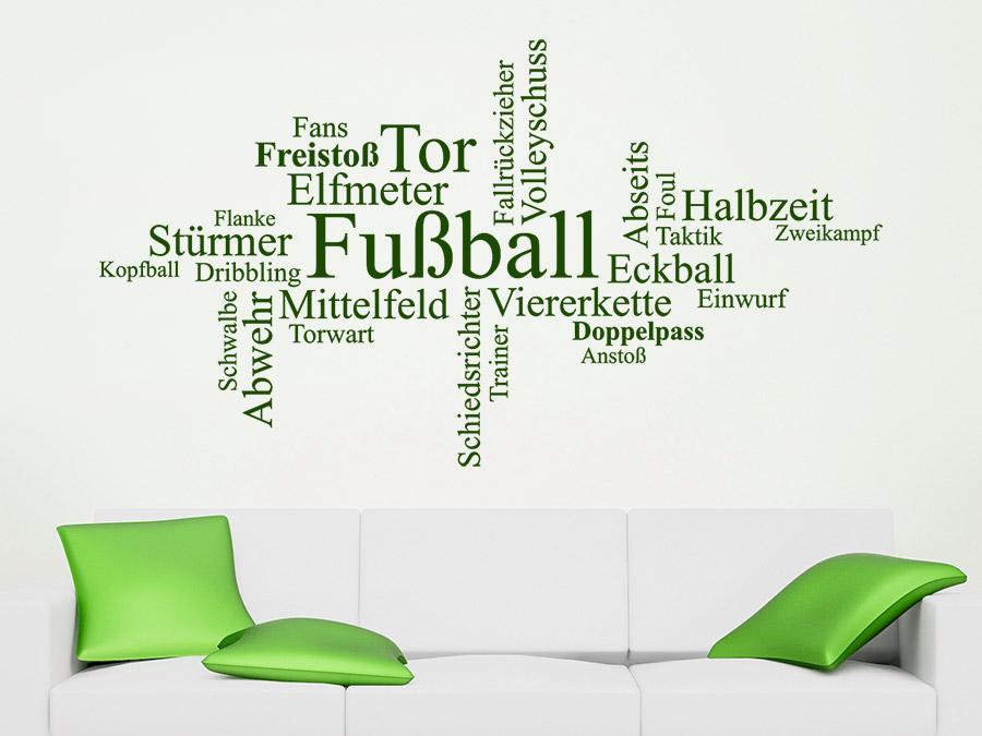 Wandtattoo Fussball Wortwolke Sport Von Wandtattoode