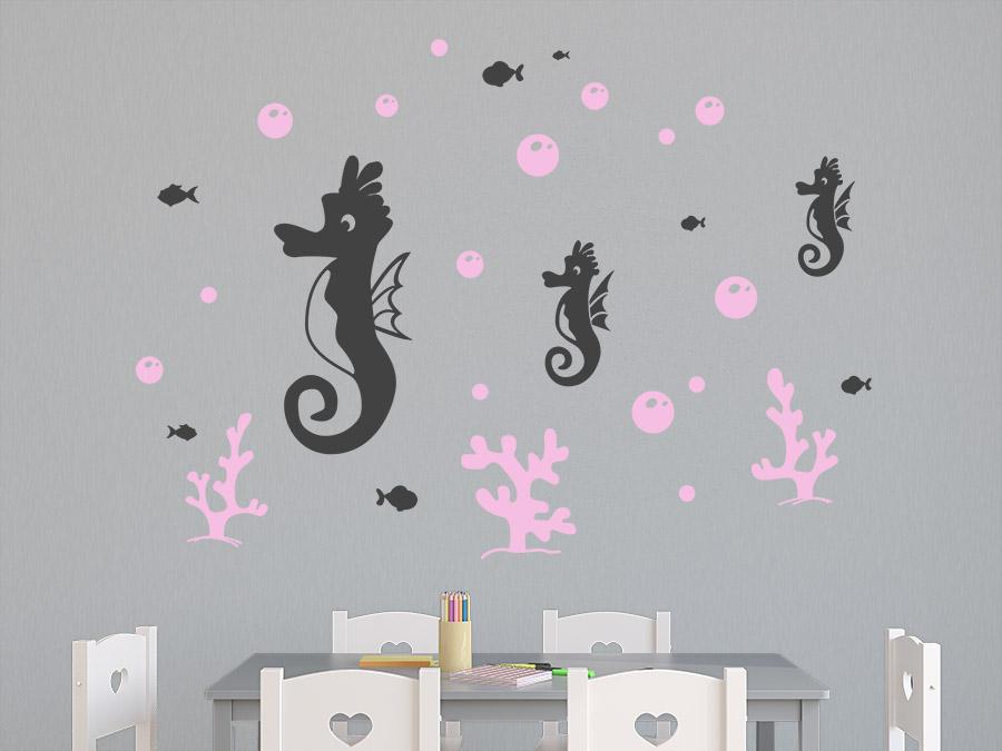 wandtattoo seepferdchen zweifarbig wandtattoo de. Black Bedroom Furniture Sets. Home Design Ideas