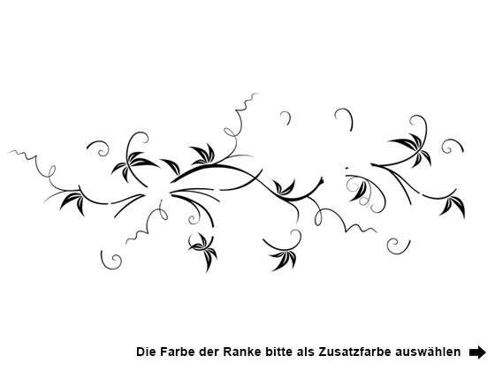 Wandtattoo Blumenranke Weiß : Wandtattoo Zweifarbige Blumenranke  WANDTATTOODE