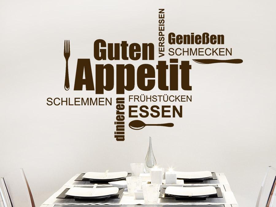Emejing Wandtattoo Küche Guten Appetit Ideas - Kosherelsalvador.com ...