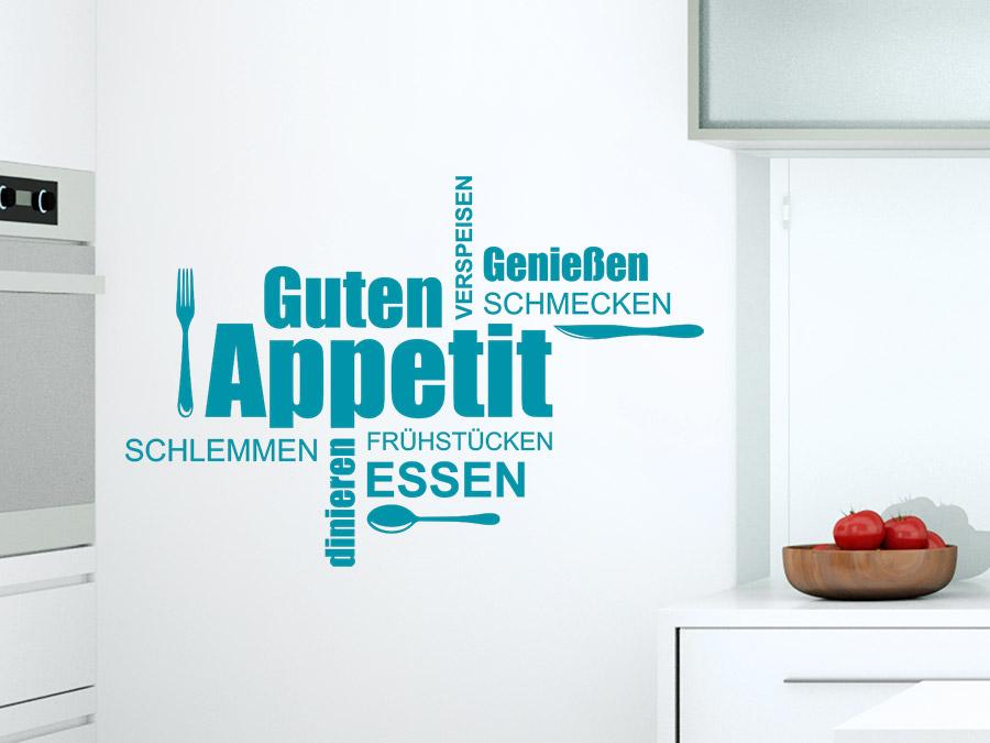 wandtattoo guten appetit wortwolke | wandtattoo.de - Wandtattoo Küche Guten Appetit