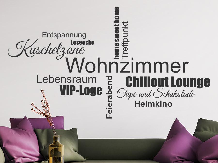 wandtattoo wohnzimmer wortwolke von wandtattoo.de, Modern dekoo