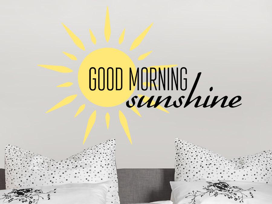 wandtattoo good morning sunshine mit sonne wandtattoo de. Black Bedroom Furniture Sets. Home Design Ideas