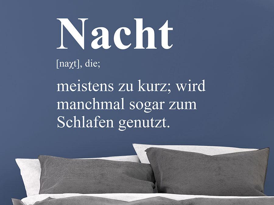 Wandtattoo Nacht Definition | WANDTATTOO.DE