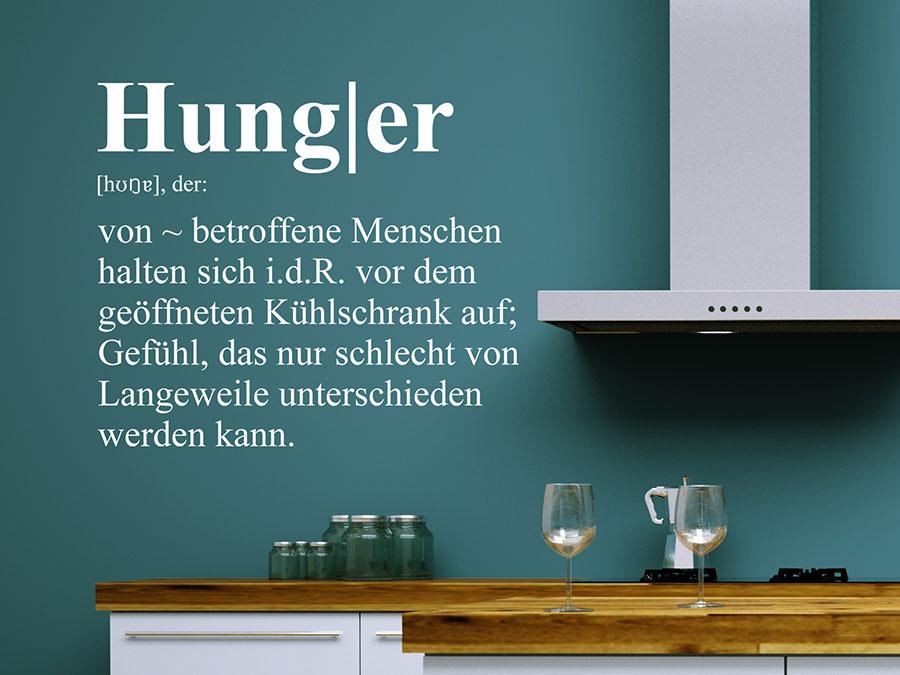 Kühlschrank Tattoo : Wandtattoo hunger definition wandtattoo