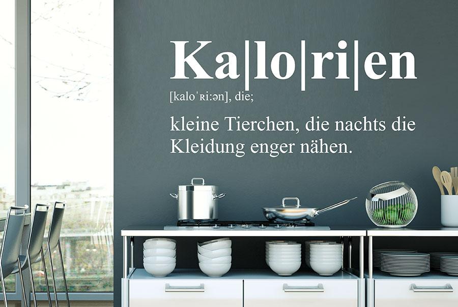 Wandtattoo Kalorien Definition | WANDTATTOO.DE