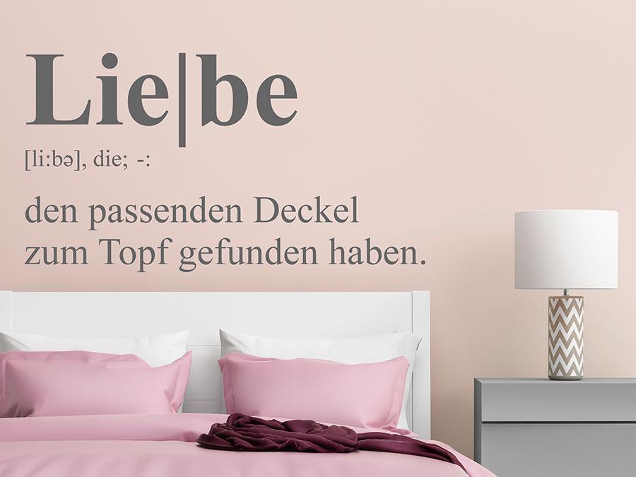 wandtattoo liebe definition von. Black Bedroom Furniture Sets. Home Design Ideas