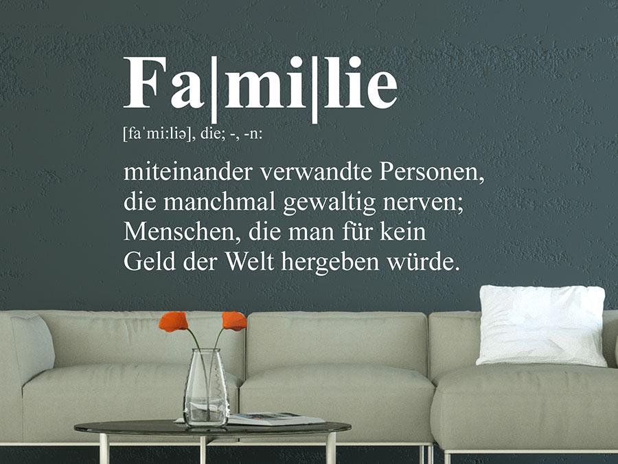 Wandtattoo Familie Definition von Wandtattoo.de