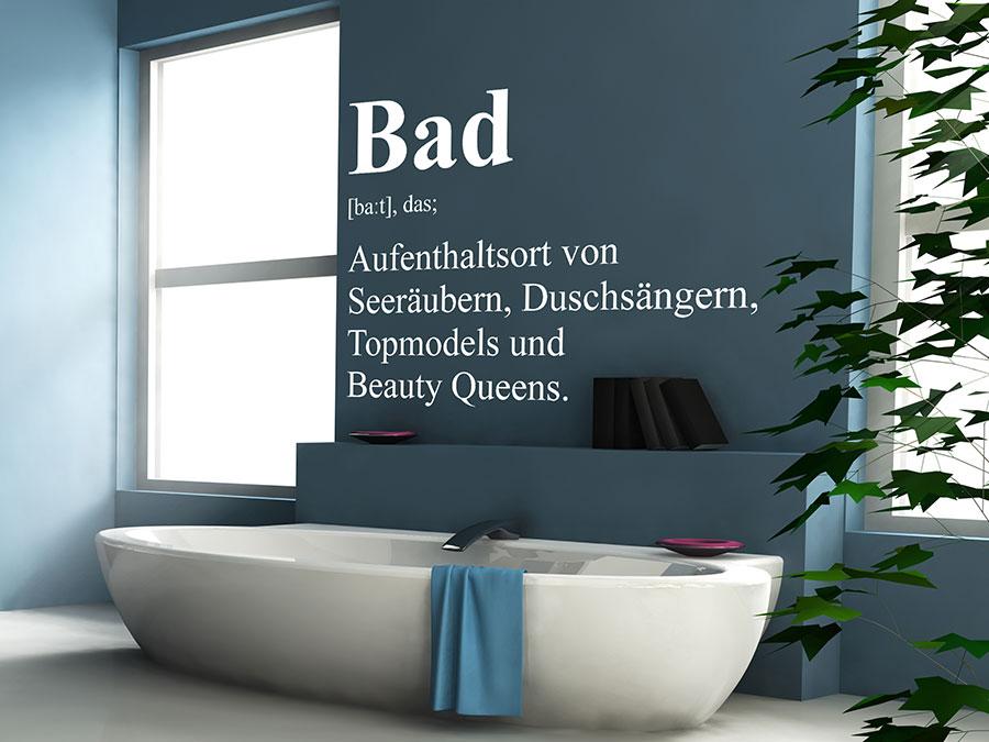 wandtattoo bad definition 2 von. Black Bedroom Furniture Sets. Home Design Ideas