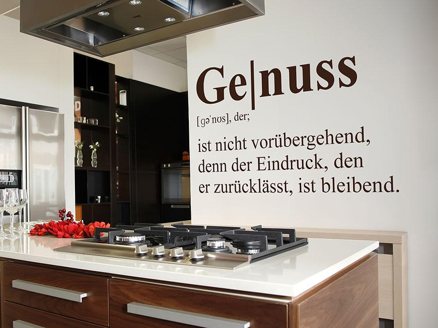 Wandtattoo Genuss Definition Wunderschönes Wandtattoo Genuss Begriff In Der  Küche ...