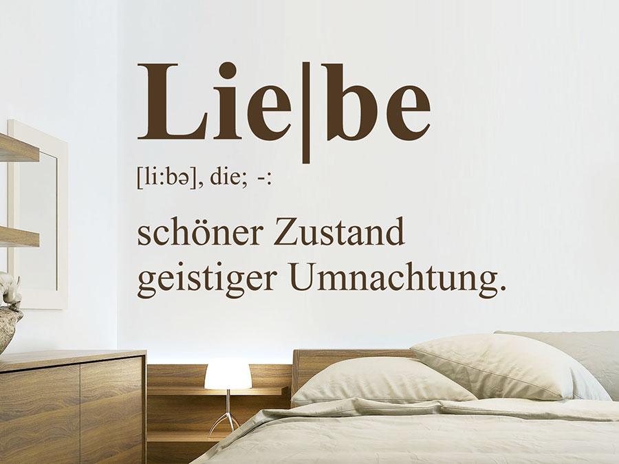 Wandtattoo Liebe Definition 3 von Wandtattoo.de