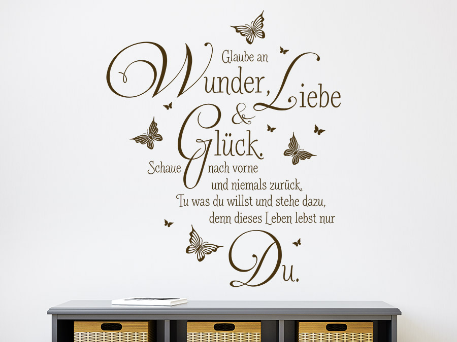 wandtattoo glaube an wunder spruch von. Black Bedroom Furniture Sets. Home Design Ideas