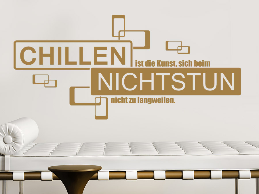 retro wandtattoo chillen ist die kunst von. Black Bedroom Furniture Sets. Home Design Ideas