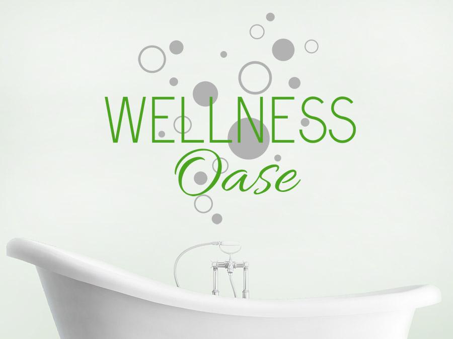 Wandtattoo wellness oase mit kreisen wandtattoo de - Wandtattoo wellness ...