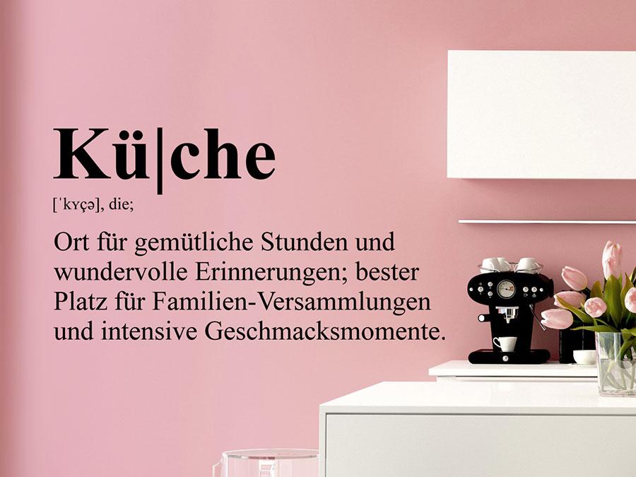 wandtattoo k che definition von. Black Bedroom Furniture Sets. Home Design Ideas