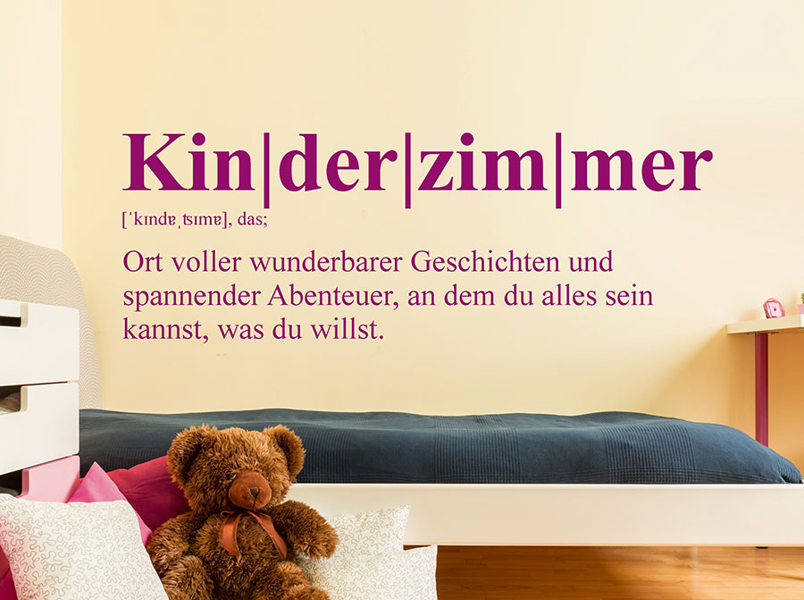 wandtattoo kinderzimmer definition wandtattoo de. Black Bedroom Furniture Sets. Home Design Ideas