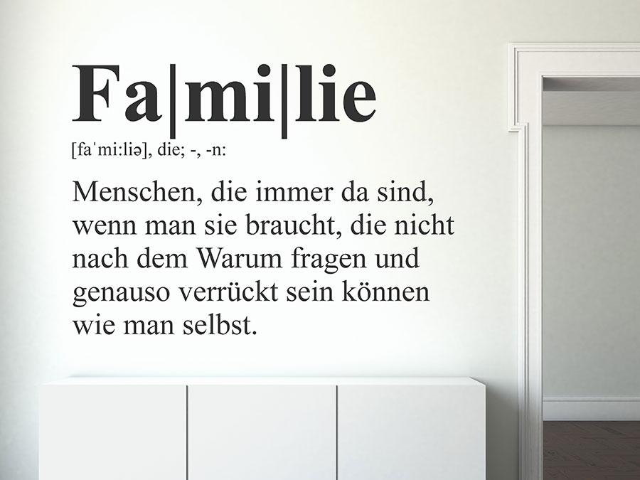 Wandtattoo Familie Definition 2 | WANDTATTOO.DE