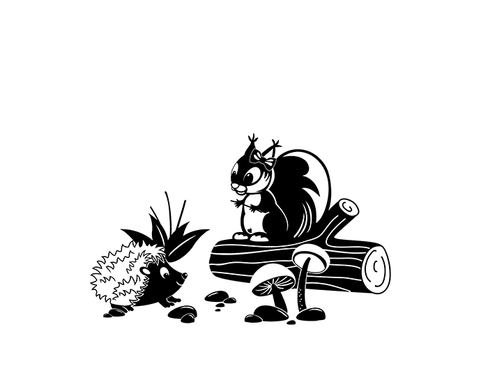 Wandtattoos Wandbilder Wandtattoo Eichhornchen Und Igel Zweifarbiges Kinder Motiv Von Designscape Mobel Wohnen Elin Pens Ac Id