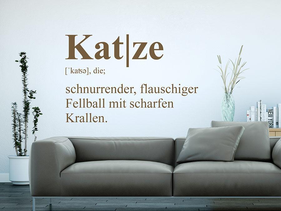 Wandtattoo katze definition wandtattoo de - Katzen wandtattoo ...
