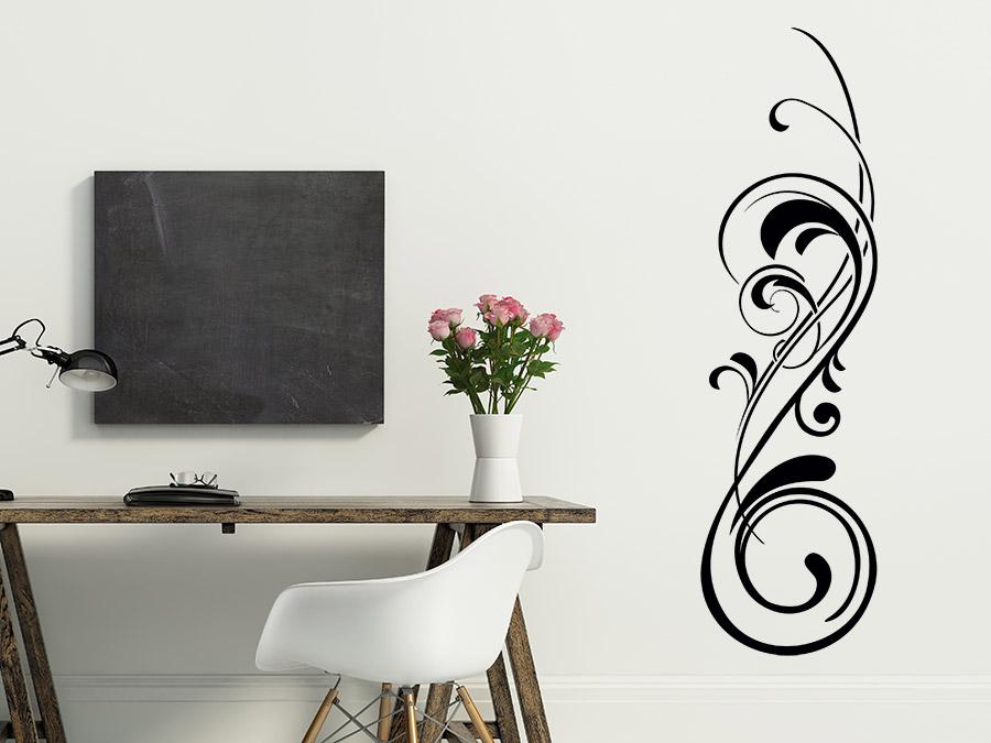 wandtattoo eleganter schn rkel ornament wandtattoo de. Black Bedroom Furniture Sets. Home Design Ideas