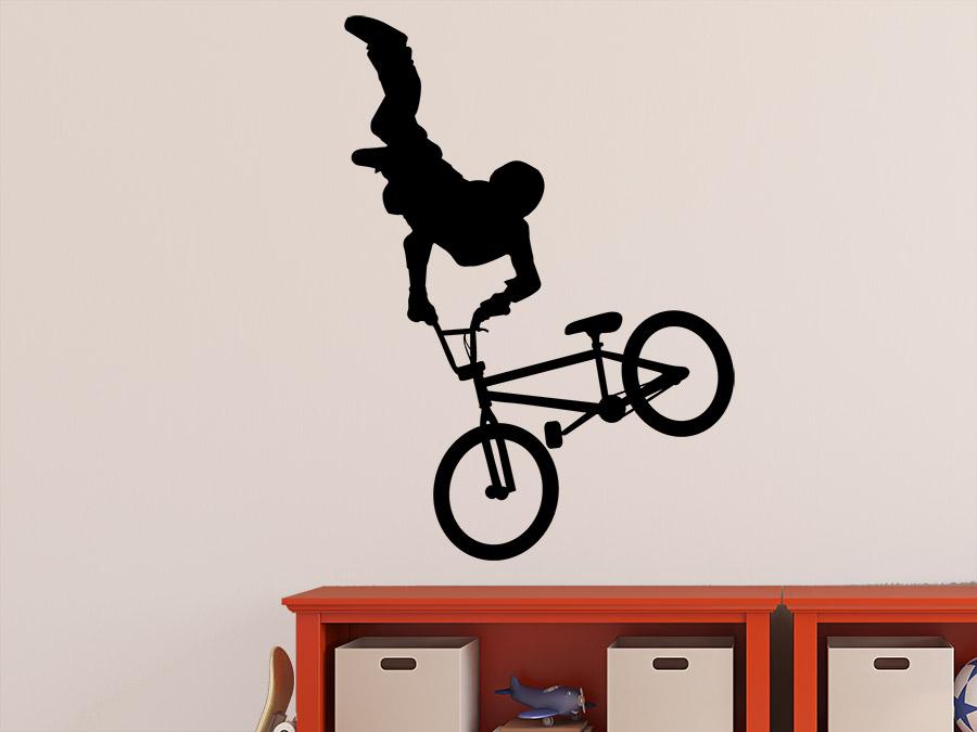 wandtattoo bmx fahrer mit trick wandtattoo de. Black Bedroom Furniture Sets. Home Design Ideas