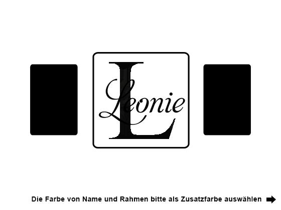 Wandtattoo Name mit Buchstabe und Fotorahmen | WANDTATTOO.DE