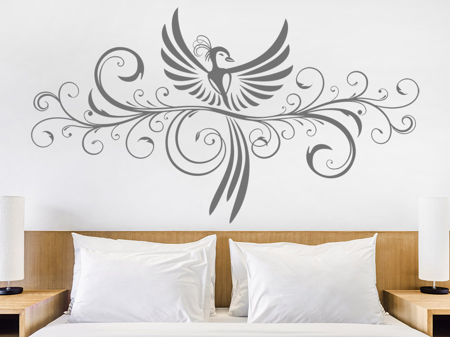 wandtattoo ph nix ornament wandtattoo de. Black Bedroom Furniture Sets. Home Design Ideas