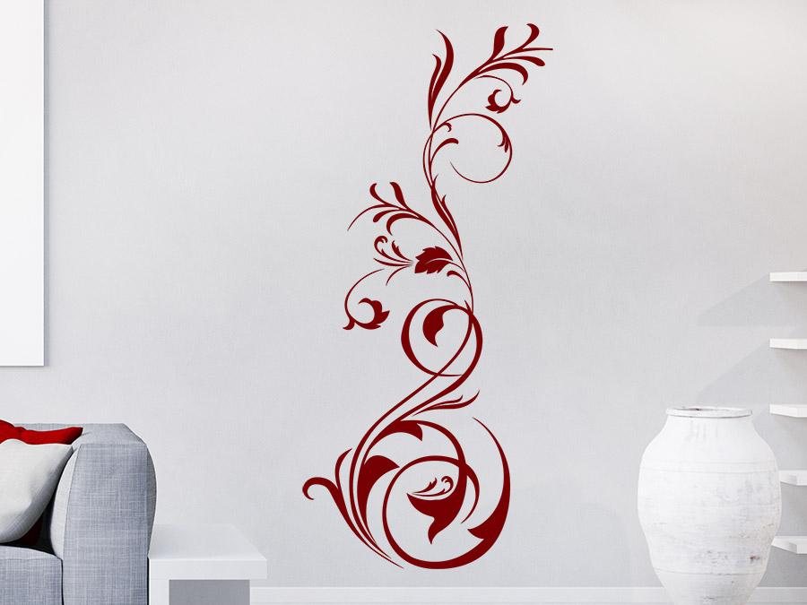 wandtattoo malerisches ornament wandtattoo de. Black Bedroom Furniture Sets. Home Design Ideas