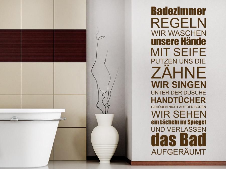 Wandtattoo Badezimmer Regeln Wellness Spruchband | WANDTATTOO.DE