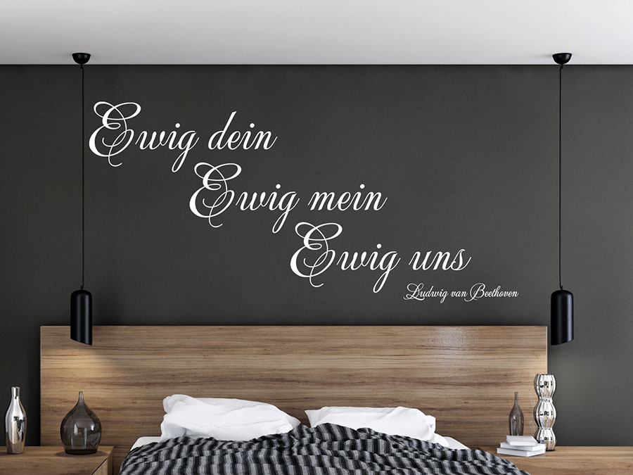 wandtattoo ewig dein ewig mein ewig uns wandtattoo de. Black Bedroom Furniture Sets. Home Design Ideas