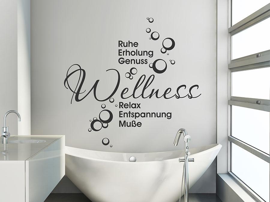 Wandtattoo wellness ruhe erholung genuss relax wandtattoo de - Wandtattoo wellness ...