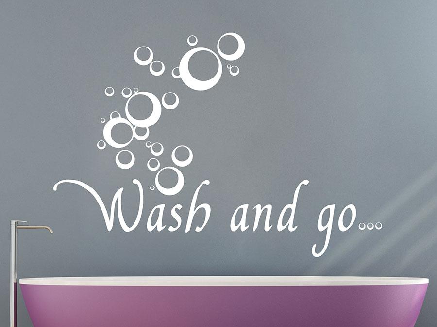 wandtattoo wash   mit seifenblasen wandtattoosde