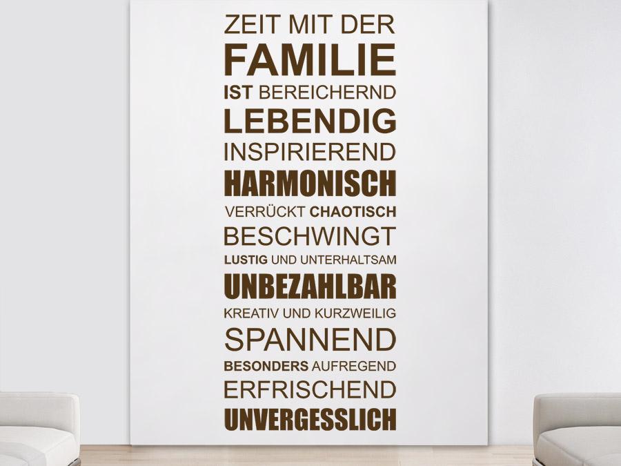 Wandtattoo Zeit mit der Familie ist... | WANDTATTOO.DE