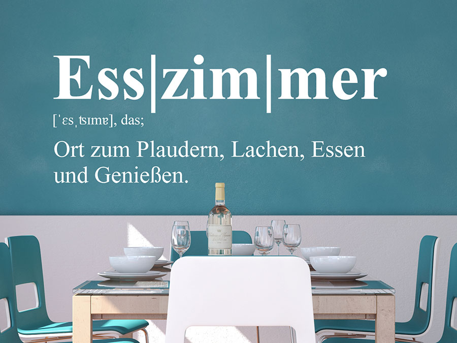 Wandtattoo Esszimmer Definition | WANDTATTOO.DE