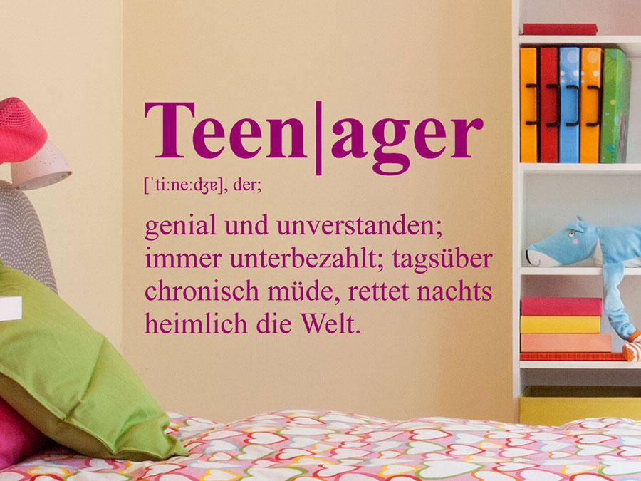 Wandtattoo Teenager Definition von Wandtattoo.de