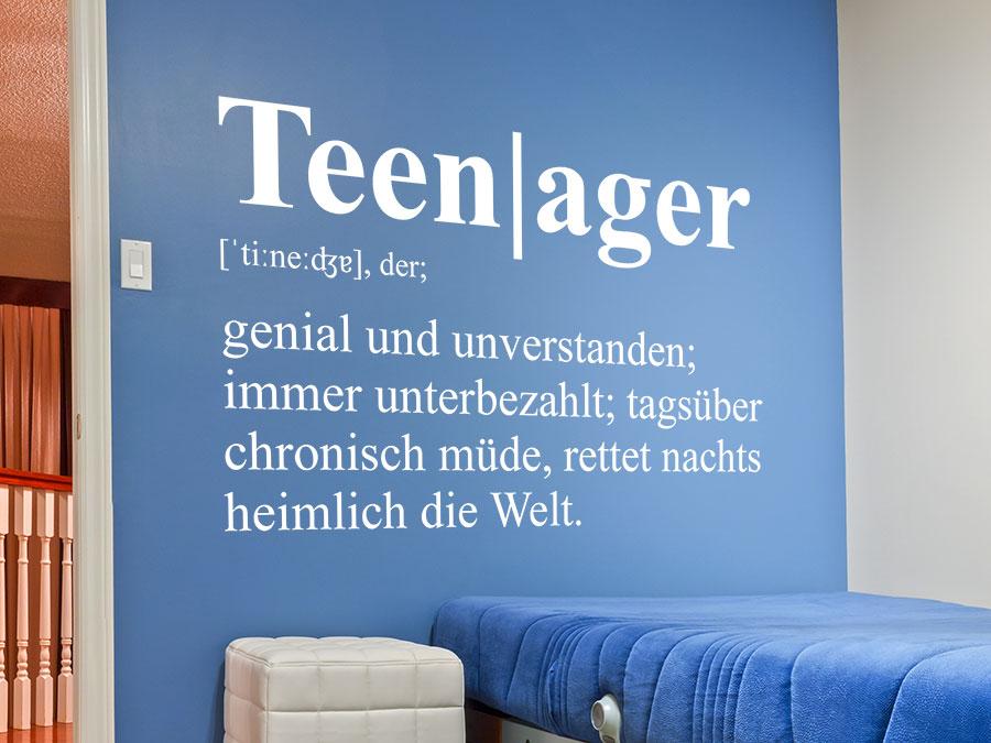 Wandtattoo teenager definition von for Wandtattoo teenager